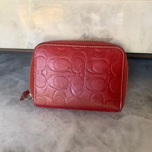 Coach Red Wallet Card Holder
